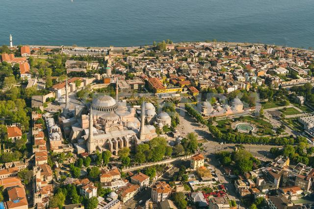 Turkey, Istanbul, Aerial view of Hagia Sofia Mosque - TAMF00988