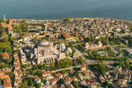 Turkey, Istanbul, Aerial view of Hagia Sofia Mosque - TAMF00988
