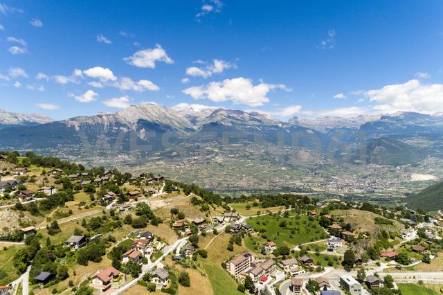 Switzerland, italian switzerland, Alps, Aerial of an village - TAMF00994