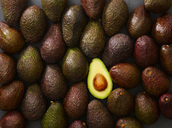 Whole and sliced avocado - KSWF01839