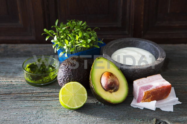 Ingredients of cream of Avocado Soup - KSWF01857