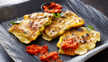 Cheddar Goezleme, grilled stuffed pastry, spicy ajvar - KSWF01863