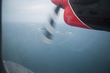 Maldives, seaplane above islands - ZEF15260