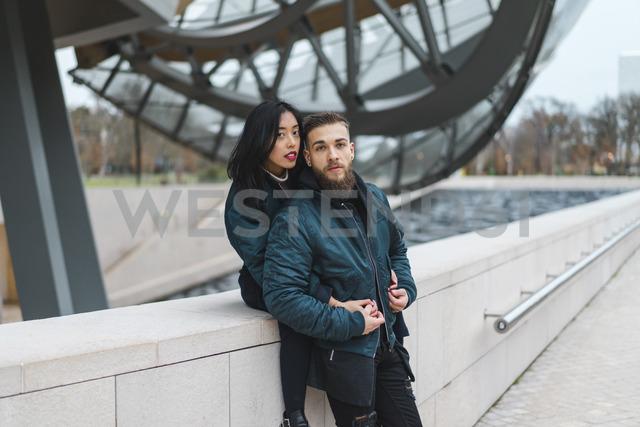 France, Paris, portrait of young couple - AFVF00366