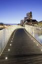 Illuminated footbridge at dusk - FOLF01063