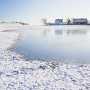 Lake and houses in winter - FOLF01786