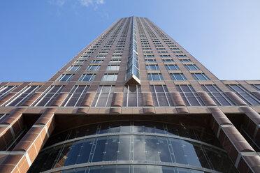 Germany, Hesse, Frankfurt, Trade Fair Tower, worm's eye view - WIF03486