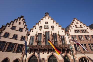 Germany, Hesse, Frankfurt, Roemerberg, facade of city hall Roemer - WIF03495