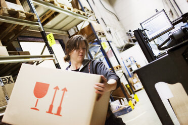 Young woman working in warehouse - FOLF02075