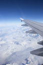 Wing of an airplane flying over alps - FOLF03605