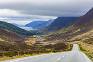 United Kingdom, Scotland, Highland, Glen Docherty Valley, A832 road, Loch Maree - WDF04491