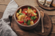 Riojan cuisine, stew with potatoes and chorizo - RTBF01111
