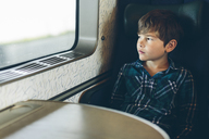 Young boy travelling on a train - FOLF04665