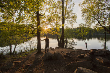 Man standing in Wooded area - FOLF04800