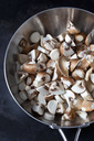 Raw champignons and king trumpet mushrooms in pan - CSF29003