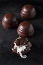 Three whole and a squashed chocolate marshmallow - CSF29075
