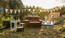 Empty decoration set for party in the field - DAPF00925