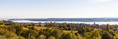 Germany, Baden-Wuerttemberg, Lake Constance, Lake Ueberlingen, Ueberlingen, city view, panorama - WDF04543