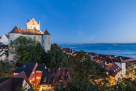 Germany, Baden-Wuerttemberg, Lake Constance, Meersburg, Meersburg Castle, lower city - WDF04549