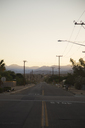 Road leading towards mountain range on horizon - FOLF05522