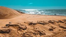 Spain, Gran Canaria, Maspalomas, People at the beach - FRF00636