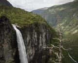 Jotunheimen mountain range and Utladalen valley with Vettisfossen waterfall - FOLF05905