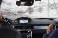 Man driving car, passenger sitting - FOLF05933