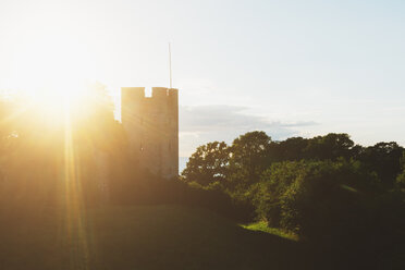 Sunbeam over town wall in Visby - FOLF06285