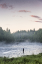 Man fishing in river - FOLF06414