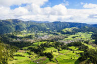 Azores, Sao Miguel, Landscape of the city of Furnas - KIJF01923