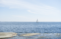 Sailboat on sea in distance - FOLF07561