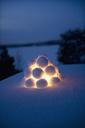 Close up of snowball lantern - FOLF07570