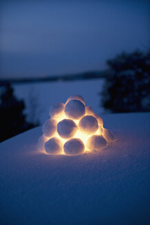 Close up of snowball lantern - FOLF07570
