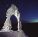 Majestic view of Delicate Arch against star field at Arches National Park - CAVF35015