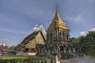 Thailand, Chiang Mai, Temple Wat Chang Lom, Chedi - ZC00612