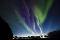 Norway, Lofoten Islands, Eggum, northern lights - WVF01040