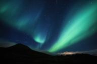Norway, Lofoten Islands, Haukland Beach, northern lights - WVF01049
