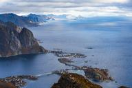 Norway, Lofoten Islands, Reine, View from Reinebringen - WVF01087
