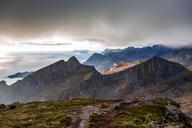 Norway, Lofoten Islands, Reine, View from Reinebringen - WVF01090