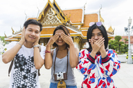 Thailand, Bangkok, three friends having fun - WPEF00186