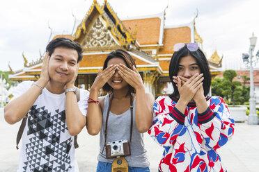Thailand, Bangkok, three friends having fun - WPEF00186