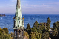 Germany, view to Lake Constance with spire of Constance Minster in the foreground - WD04585