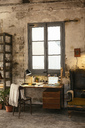 Desk with laptop in a loft - EBSF02271