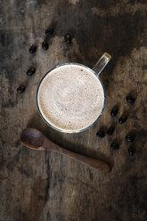 Glass of Smoothie with plant milk and espresso - EVGF03367