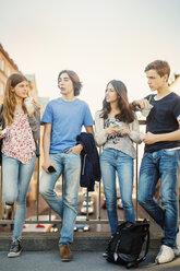 Teenagers spending leisure time on bridge - MASF03790