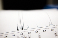 Close-up of printout at laboratory - CAVF38819