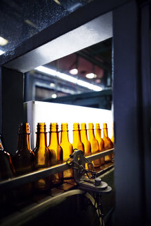 Empty bottles on production line - CAVF38828