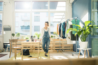 Fashion designer standing in her studio - MOEF01006