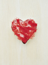 Cookie cutter filled with red dyed cotton wool - MUF01524