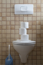 Toilet with stack of toilet paper - CRF02787